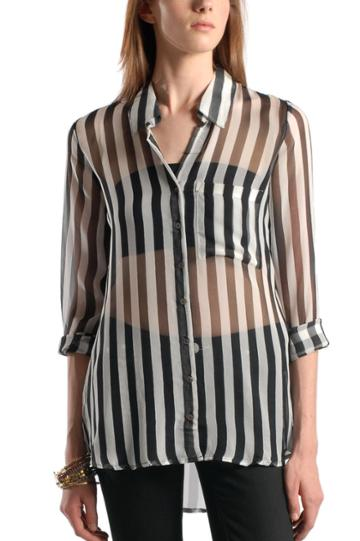 Femme Striped Blouse