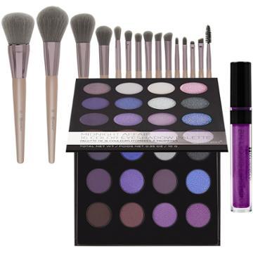 Bh Cosmetics Haul: Midnight Affair Palette + Lavish Elegance Brush Set + Metallic Liquid Lipstick - Lucinda