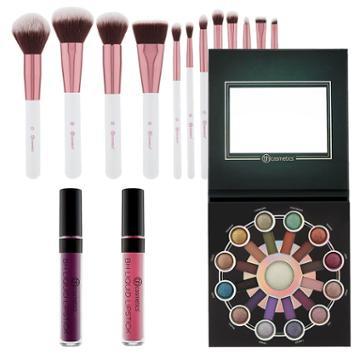 Bh Cosmetics Haul: Zodiac Palette + Crystal Quartz Brush Set + 2 Liquid Lipsticks