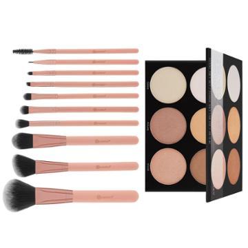 Bh Cosmetics Haul: Spotlight Highlight Palette + Pretty In Pink Brush Set