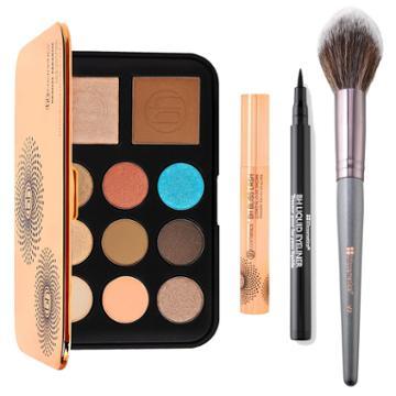 Bh Cosmetics Haul: Bronze Paradise + Bh Bliss Lash +v2 Vegan Pointed Blending Brush + Bh Liquid Eyeliner