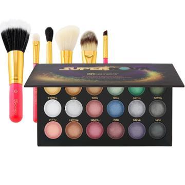 Bh Cosmetics Supernova Palette + Neon Pink Brush Set