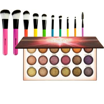 Bh Cosmetics Solar Flare Palette + Pop Art Brush Set