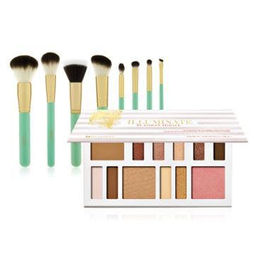 Bh Cosmetics 48-hour Haul - Illuminate By Ashley Tisdale: Beach Goddess - 12 Color Eye & Cheek Collection + 8 Piece Brush Set