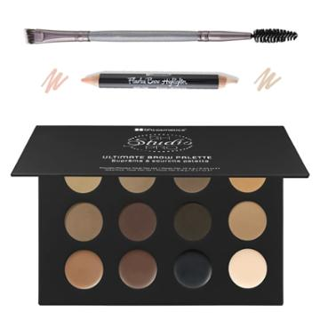 Bh Cosmetics Haul: Ultimate Brow Palette + Vegan Brow Duo Brush + Flawless Brow Highlighter