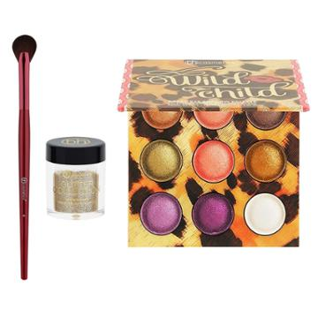 Bh Cosmetics Haul: Wild Child Baked Palette + Smokey Gold Glitter + Eye Fan Brush 4