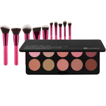 Bh Cosmetics Classic Blush Palette + Sculpt And Blend Fan Faves Brush Set