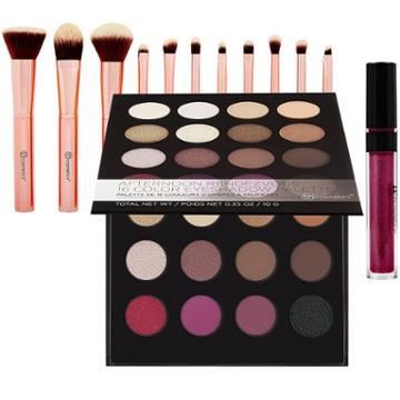 Bh Cosmetics Haul: Afternoon Rendezvous Palette + Metal Rose Brush Set + Metallic Liquid Lipstick - Lucy