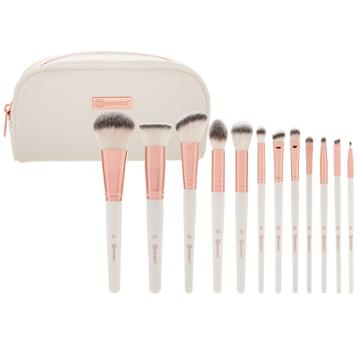 Bh Cosmetics Ros © Romance - 12 Piece Brush Set With Cosmetic Bag