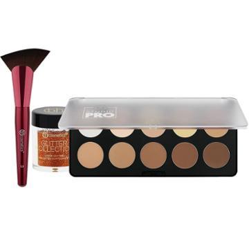 Bh Cosmetics Haul: Shade & Define Contour Palette + Shading Fan Brush + Spiced Pumpkin Glitter