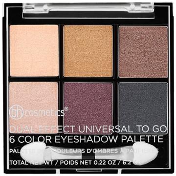Bh Cosmetics Dual Effect Universal To Go - 6 Color Eyeshadow Palette
