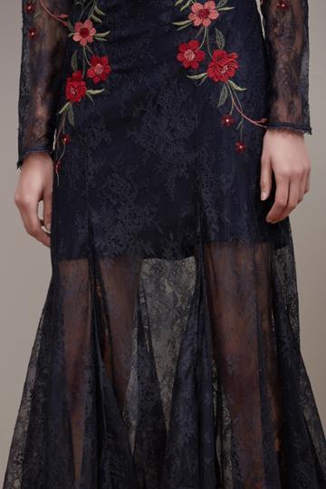 Keepsake Keepsake Dreamscape Lace Gown Navy