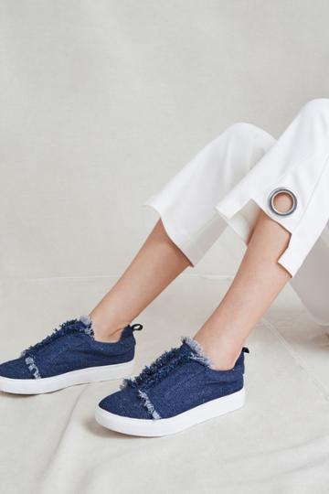 Jaggar Footwear Fray Sneaker Denim