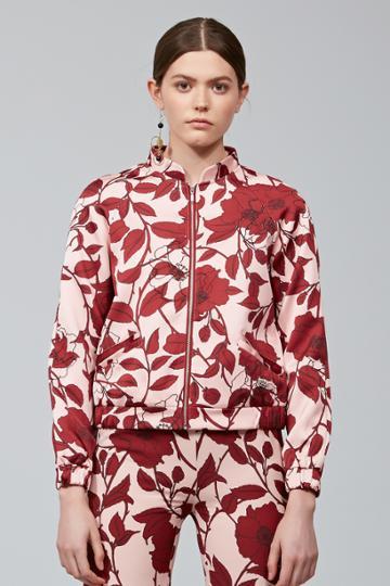 Keepsake Keepsake Dream On Bomber Jacket Dark Floral Print