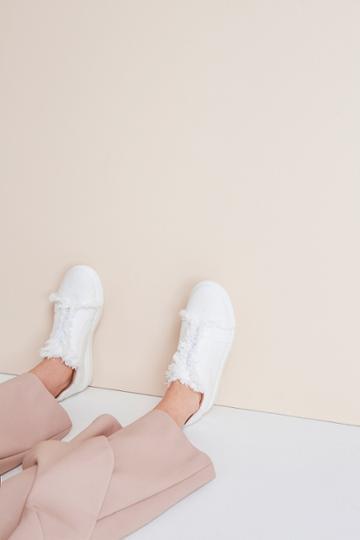 Jaggar Footwear Fray Sneaker Chalk