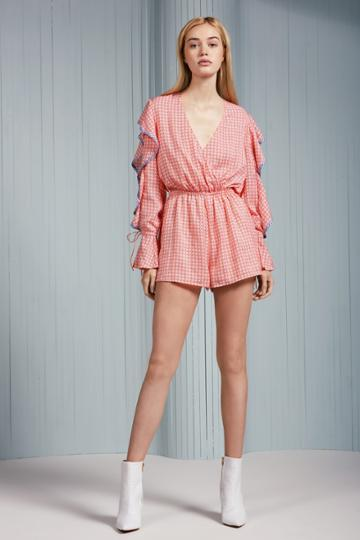 The Fifth The Fifth Juliette Playsuit Scarlet Geoxs,s,m