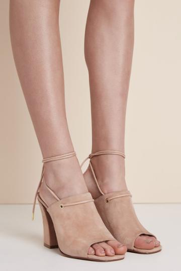 Jaggar Footwear Pinnacle Suede Heel Nude