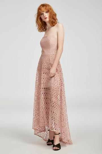 Keepsake Midnight Hour Lace Gown Blush