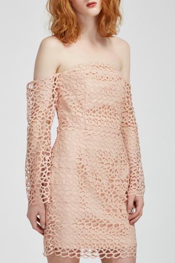 Keepsake Keepsake Countdown Lace Mini Dress Blush