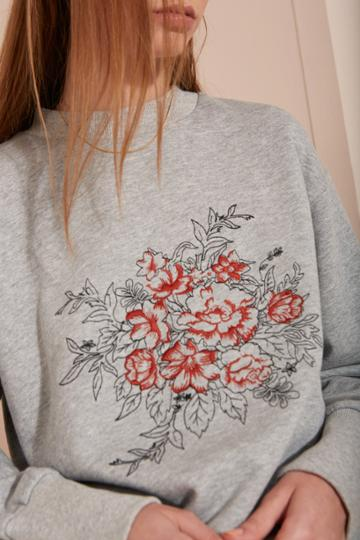 The Fifth Look Twice Jumper Grey Marle