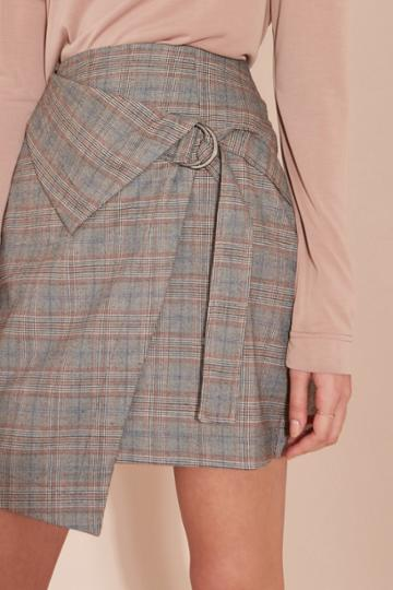 The Fifth City Sounds Skirt Grey Check