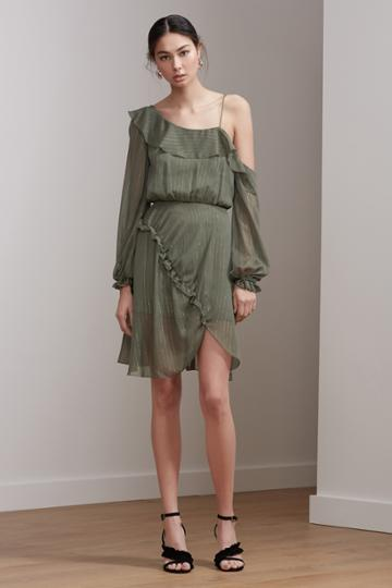 Keepsake Keepsake Paperthin Mini Dress Sage
