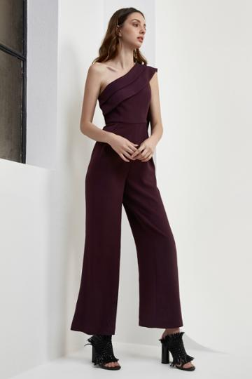 C/meo Collective C/meo Collective Don't Stop Jumpsuit Aubergine