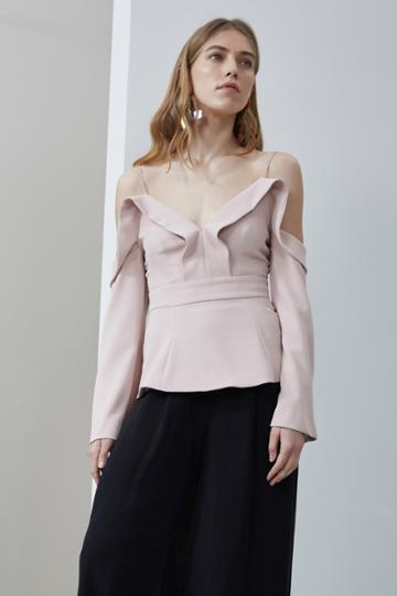 C/meo Collective Because You Do Long Sleeve Top Blush