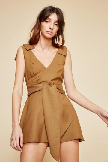 C/meo Collective C/meo Collective Vision Of You Playsuit Taupexxs, Xs,s,m,l