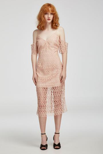 Keepsake Countdown Lace Dress Blush