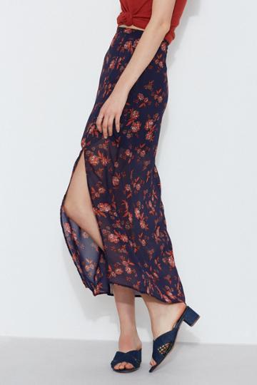 The Fifth The Fifth Capital Midi Skirt Sapphire Rosexxs, Xs,s,m,l