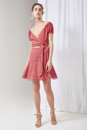 Keepsake Unravelled Skirt Mineral Redxxs, Xs,s,m,l