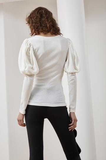 C/meo Collective C/meo Collective Circuit Long Sleeve Top Ivory