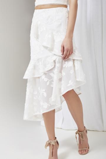 Keepsake Keepsake Shine Skirt Ivoryxl