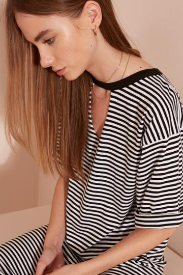 The Fifth New Way Dress Black And White Stripe