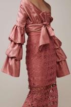 Keepsake Keepsake Stay Close Lace Skirt Paprika