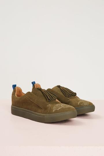 Jaggar Footwear Jaggar Footwear Figment Nubuck Flower Khaki