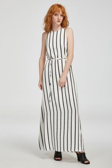 Finders Keepers Windsor Maxi Dress White Base Spot Print
