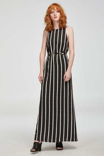 Finders Keepers Windsor Maxi Dress Black Base Spot Print
