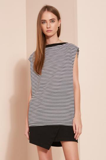 The Fifth New Way Top Black And White Stripe