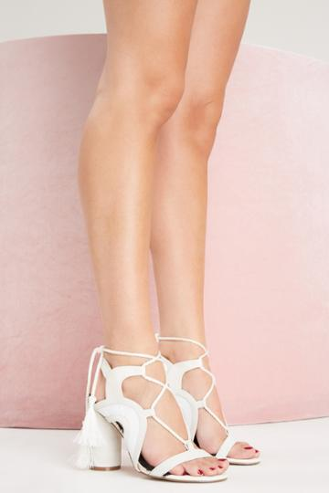 Jaggar Footwear Jaggar Footwear Swerve Block Heel Chalk41,40