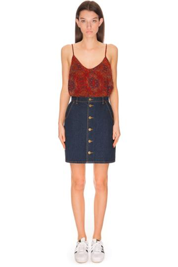 The Fifth Downtown Skirt Dark Denim