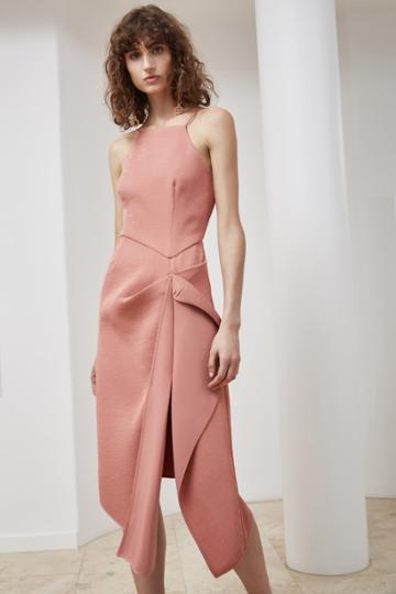 C/meo Collective C/meo Collective Fluidity Midi Dress Terracotta