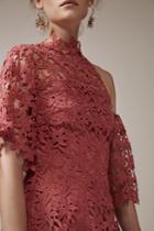 Keepsake Stay Close Lace Mini Dress Paprika