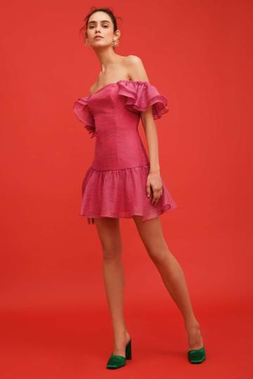 Keepsake Keepsake Only Love Mini Dress Fuschia