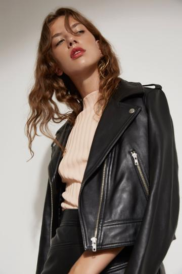 C/meo Collective Lesson Learnt Leather Jacket Black