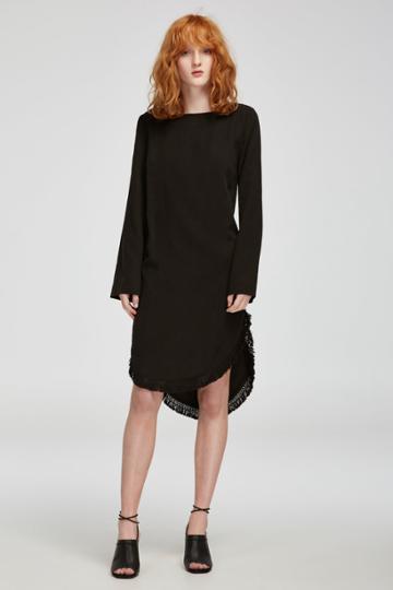 Finders Keepers Aster Long Sleeve Dress Black