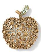 Banana Republic Apple Brooch - Gold