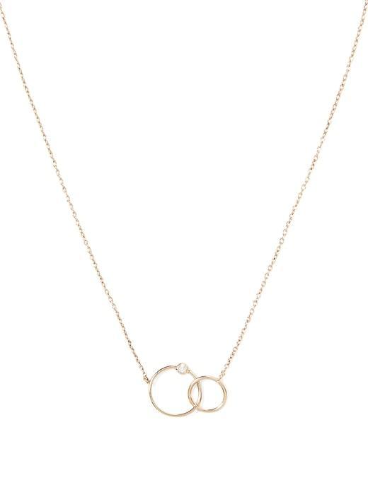 Banana Republic Interlocking Ring Necklace