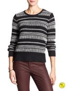 Banana Republic Factory Braid Stitch Sweater Size L - Black